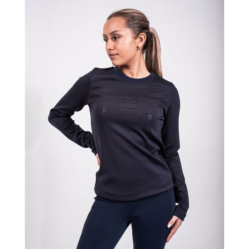 Fager Equestrian Penny Sweater Navy Profile