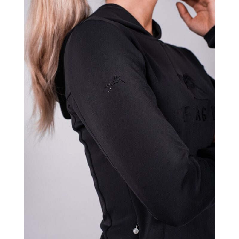 Fager Polly Hoodie Black Right Sleeve