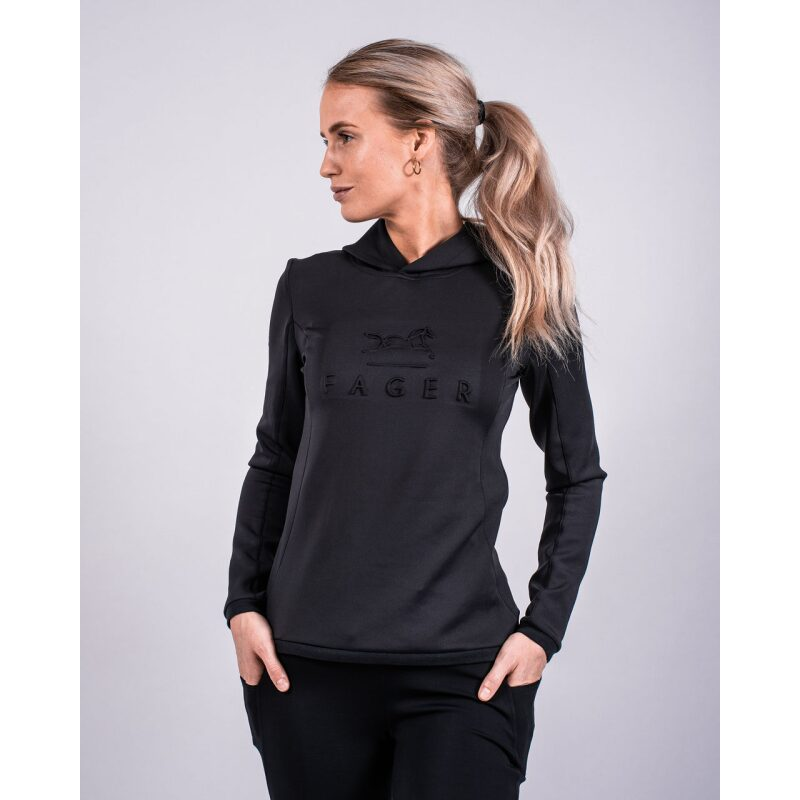 Fager Polly Hoodie Black Profile