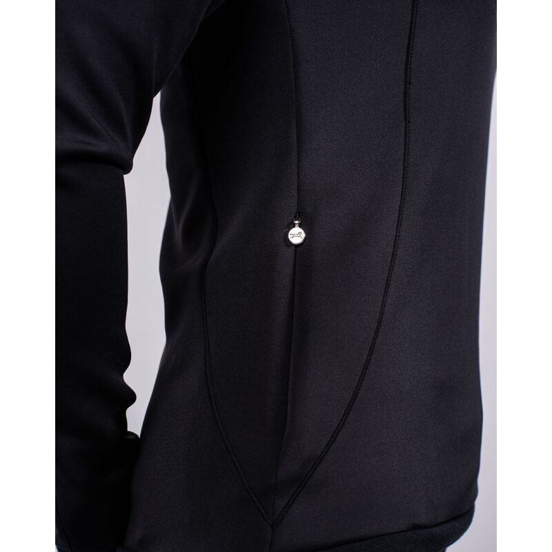 Fager Polly Hoodie Black Inseam Pockets