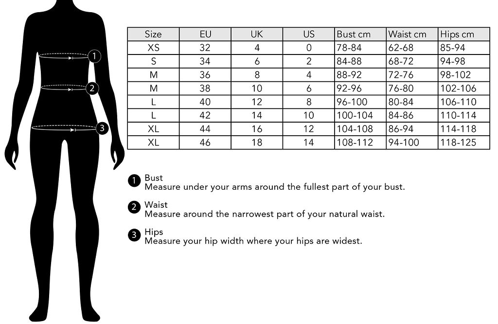 Fager Size Guide Clothing