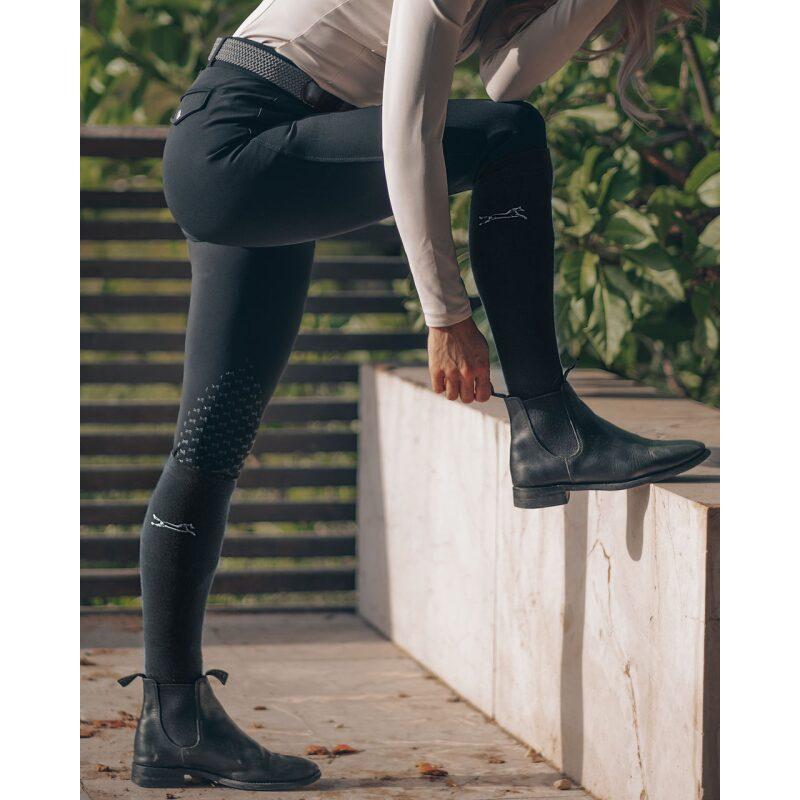 Fager Riding Socks Black on model